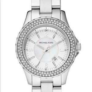 Michael Kors Madison Crystal Stainless Steel Watch